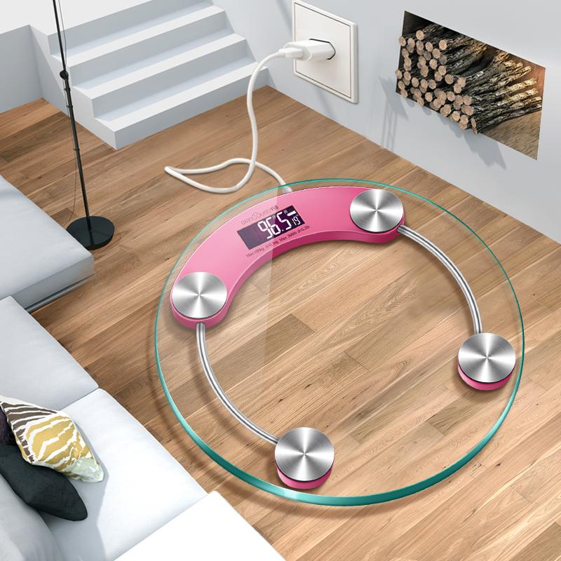 千选可充电电子称体重秤家用精准人体秤成人秤健康秤减肥称重计器