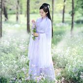 如梦霓裳汉服女装襦裙大袖衫[相思引]五魏晋风浅交领仙传统夏定制