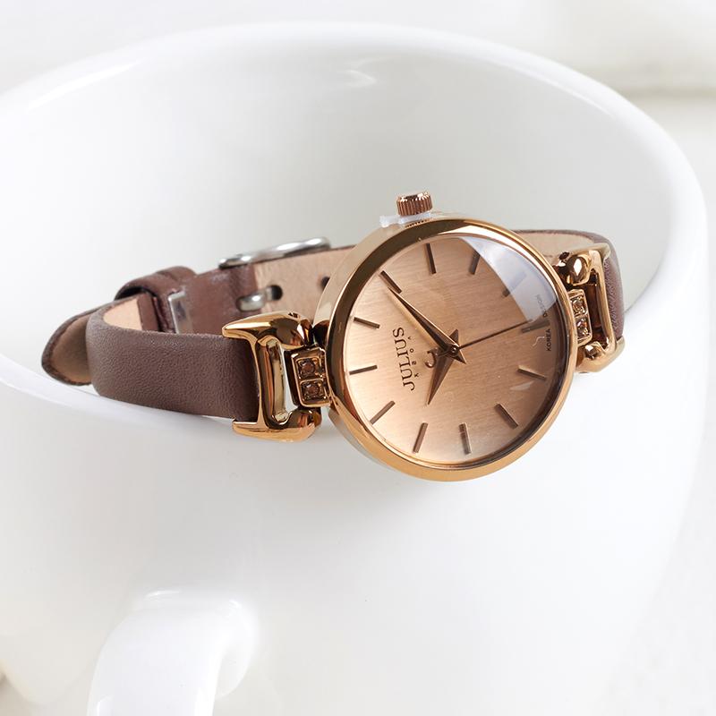 女表OL专柜正品聚利时典雅细表带女学生韩版简约石英表真皮手表