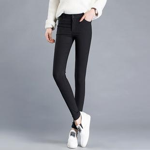 女外穿九分大码黑色打底裤高腰薄款弹力小脚铅笔裤