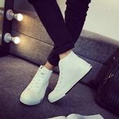 高帮板鞋 男式内增高鞋 休闲布面男鞋 7CM韩版 春夏季青春潮流帆布鞋