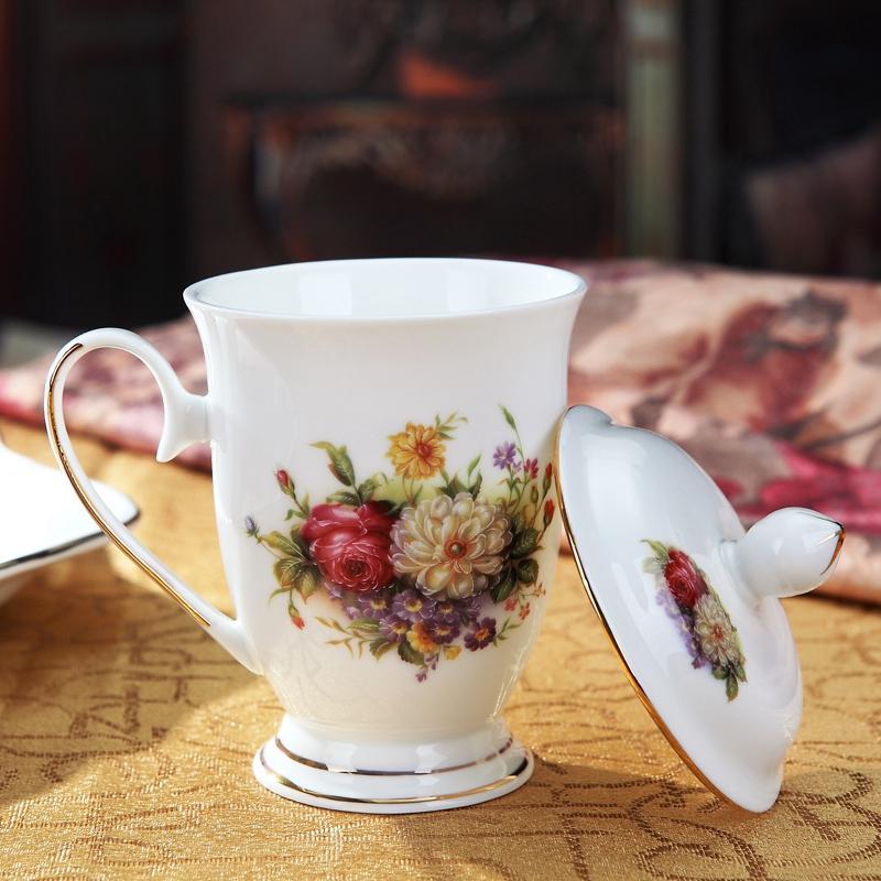 欧式陶瓷水杯饮具带盖冷水壶凉水壶家用水具套装耐热