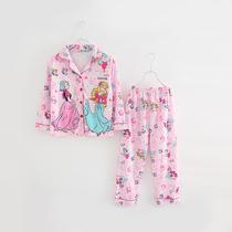 儿童睡衣男童女童春秋款纯棉长袖男孩子小女孩公主薄款家居服套装