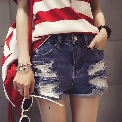 2016春装新款女装韩版破洞牛仔超短裤外穿显瘦热裤春款春季夏季潮