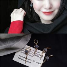 韩国秋冬时尚百搭几何绒球流苏长款耳环女甜美气质耳钉耳饰R632