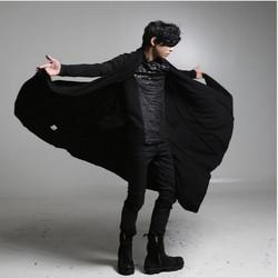 非主流男装刺客信条大衣暗黑系春季风衣长款开衫宽松外套斗篷披风