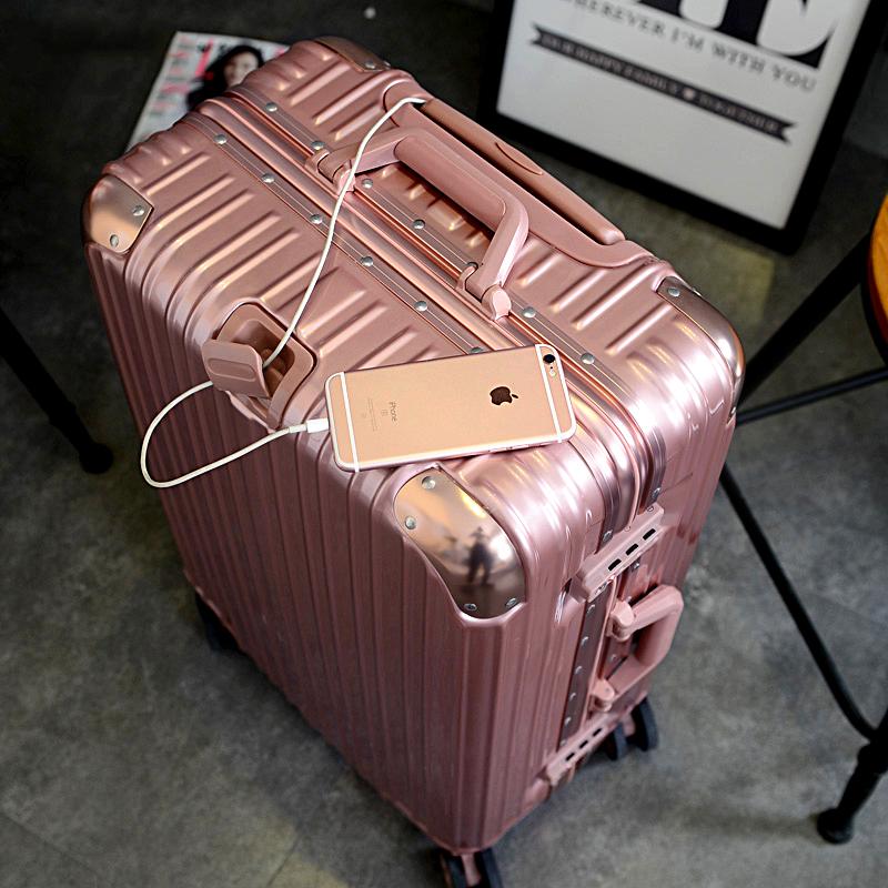 旅行學生pc萬向輪拉桿行李男女皮箱 26寸