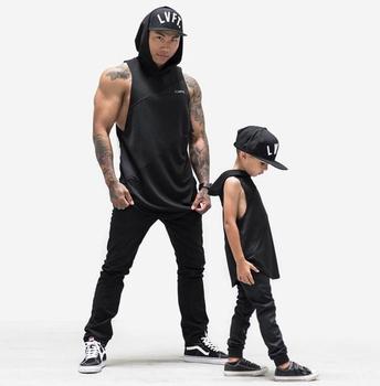 兄弟健身运动连帽背心肌肉型男士