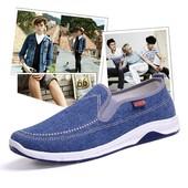 男运动板鞋 透气潮鞋 春季男士 布鞋 男鞋 一脚蹬懒人鞋 休闲鞋 帆布鞋