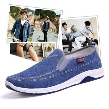 春季男士帆布鞋男鞋休闲鞋一脚蹬