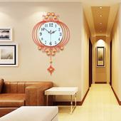 中式摇摆挂钟客厅创意钟表现代中国风挂表卧室静音时钟石英钟