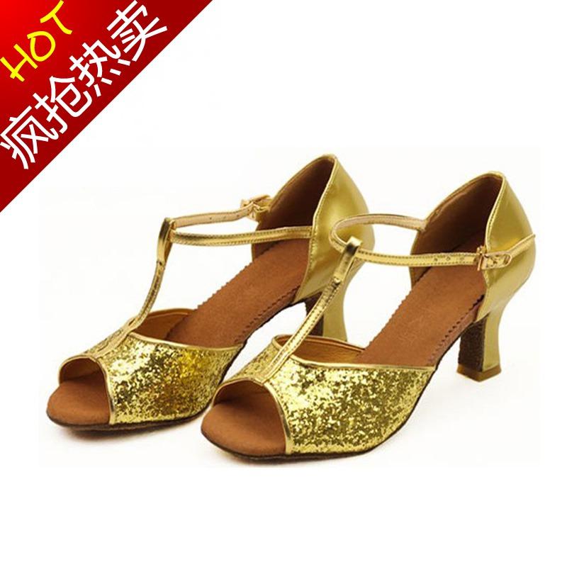 拉丁舞鞋女式摩登舞鞋女士成人拉丁鞋女国标交谊跳舞鞋高跟舞蹈鞋