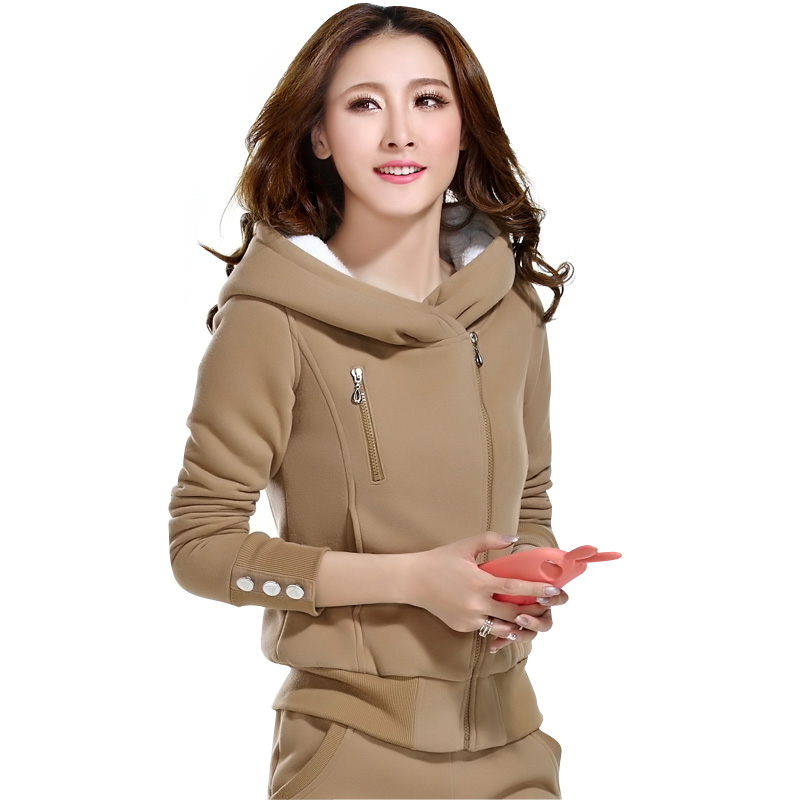 佛伦佛 2014冬季运动套装女运动服加绒加厚休闲卫衣韩版早秋套装