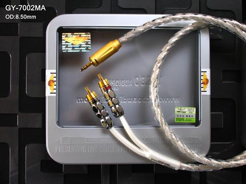 德国雅堡 YARBO GY-7002MA 发烧级镀银一分二音频线