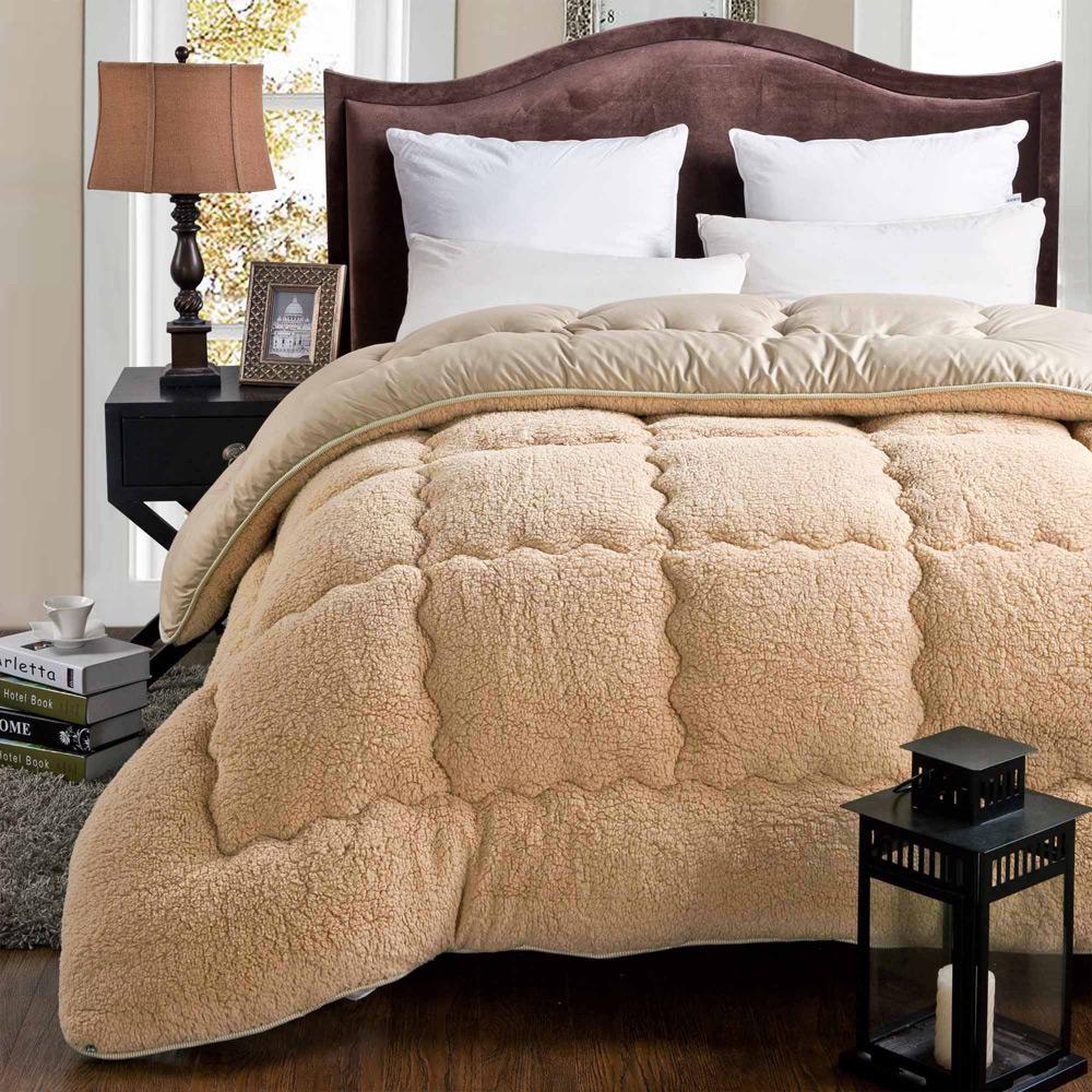 特价加厚羊羔绒冬被保暖棉被子单双人羽丝绒纤维学生儿童春秋被芯