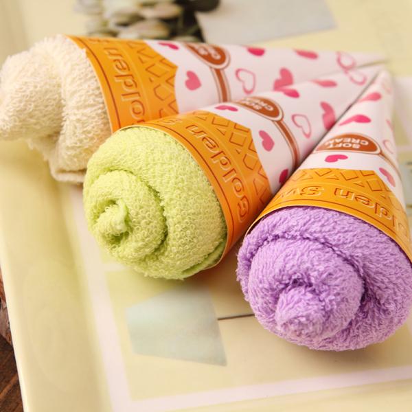 冰激凌蛋糕毛巾儿童节宝宝生日周岁满月回礼创意实用婚庆小礼物