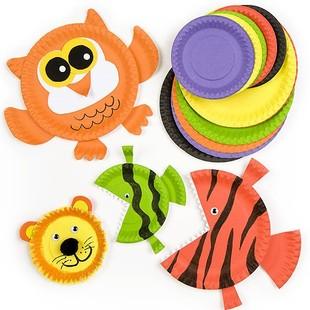 儿童diy立体手工制作书纸盘贴画材料包创意粘贴盘玩具幼儿园教材