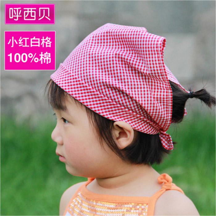 儿童小孩宝宝新生婴儿幼儿纯棉三角巾口水巾海盗头巾帽多用途围嘴