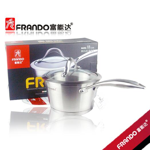 富能达 复底煮锅 加深加厚 奶锅 不锈钢汤锅 意粉锅 可用电磁炉