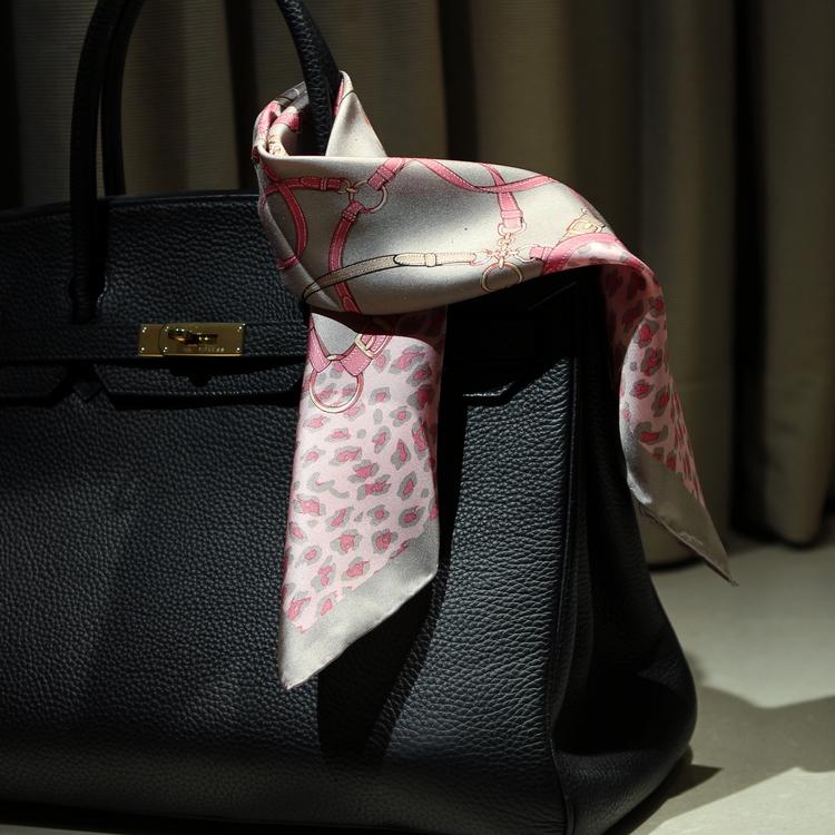 2条包邮100%桑蚕丝真丝女式时尚欧美豹纹款丝巾围巾小方巾50*50CM