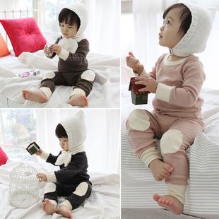 婴儿衣服0-6个月1岁2岁3岁男女宝宝家居服装儿童睡衣内衣长袖套装