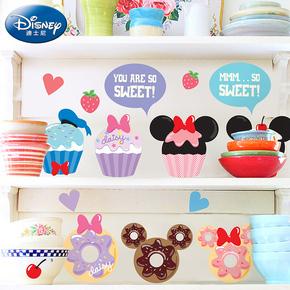 飞彩迪士尼创意墙贴 冷饮店吧台冰箱贴纸可爱贴画小贴纸 米奇甜点