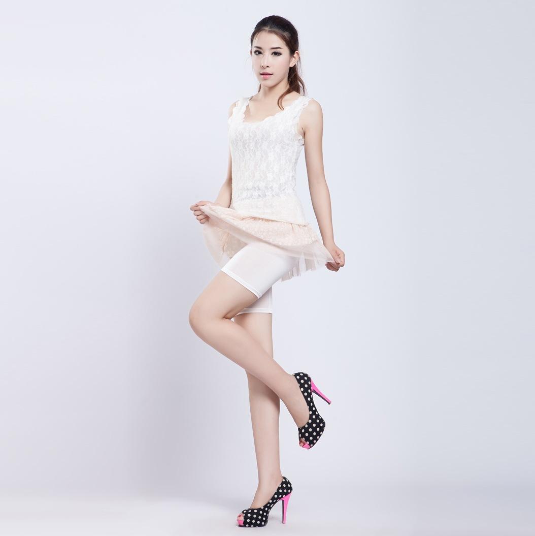 夏季新款女装 韩版冰丝五分安全内裤 防走光短裤打底裤 糖果色