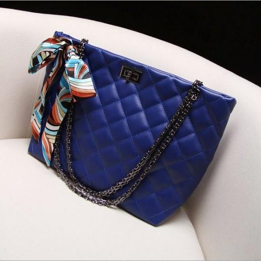 欧美复古小香风菱格链条包 2014新款真皮时尚女包 女单肩包大包包