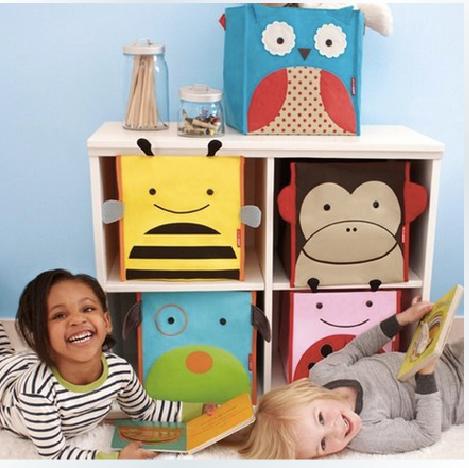 skiphop停业清仓儿童玩具收纳箱 zoo儿童玩具储物 可折叠家庭收纳