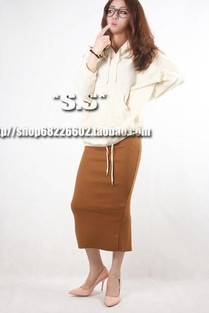 2013欧美纯色包臀裙黑色长裙拖地半身长裙秋装包裙及踝长裙子