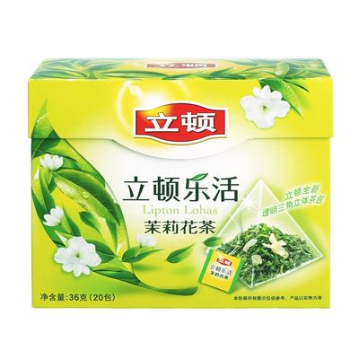 【天猫超市】立顿乐活茉莉花茶20包36g 袋泡茶包茶叶包茉莉香