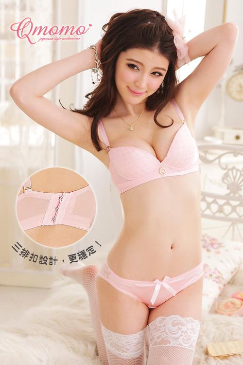 2件包邮夏季日系甜美少女光面 BCD杯大码内衣文胸套装有钢圈