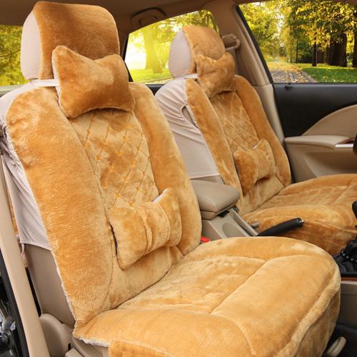 汽车坐垫 新款羊毛坐垫 秋冬季毛绒座垫座套 汽车用品速腾福克斯