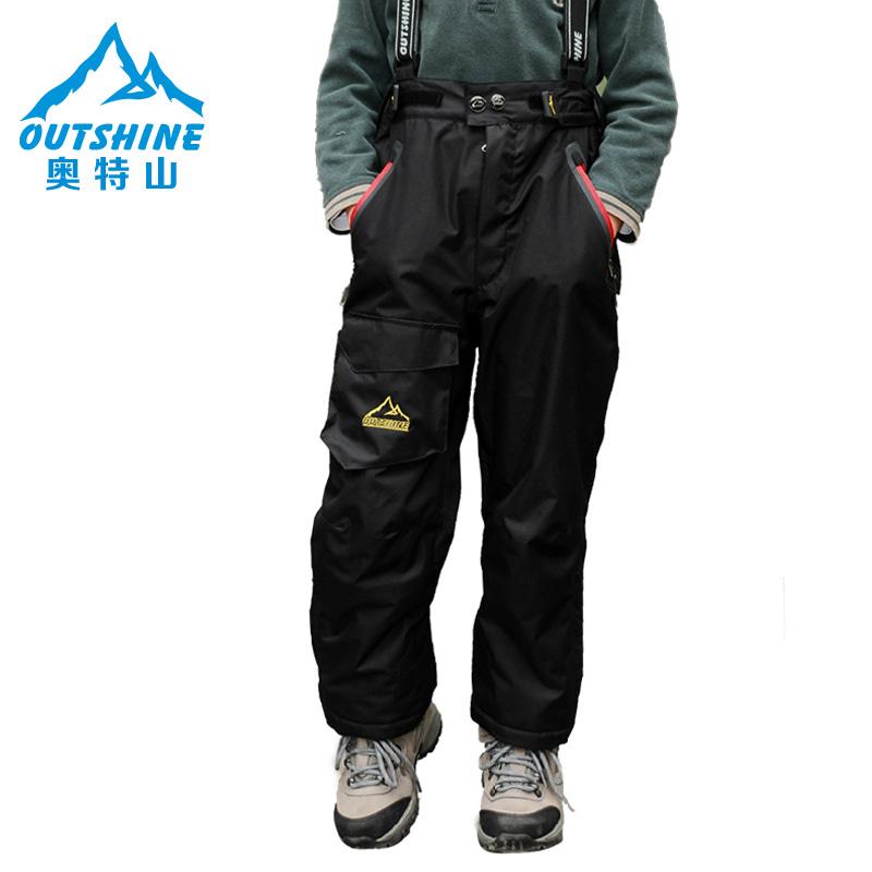 新款 奥特山 正品户外儿童滑雪服冲锋裤男童加厚抓绒防风防水冬裤