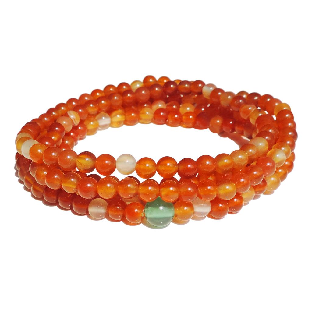 九龙国际时尚饰品天然水晶情侣手链全新红玛瑙 首饰 珠宝流行巴西