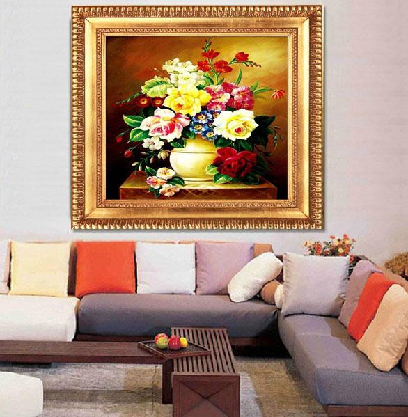 蒙娜丽莎十字绣5D华丽百花齐放精准印花新款客厅大幅系列十字绣