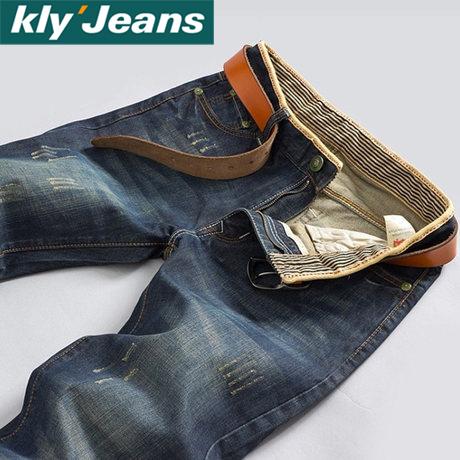 KLYJS 秋季男直筒牛仔裤男韩版时尚版型达人修身舒适牛仔长裤潮