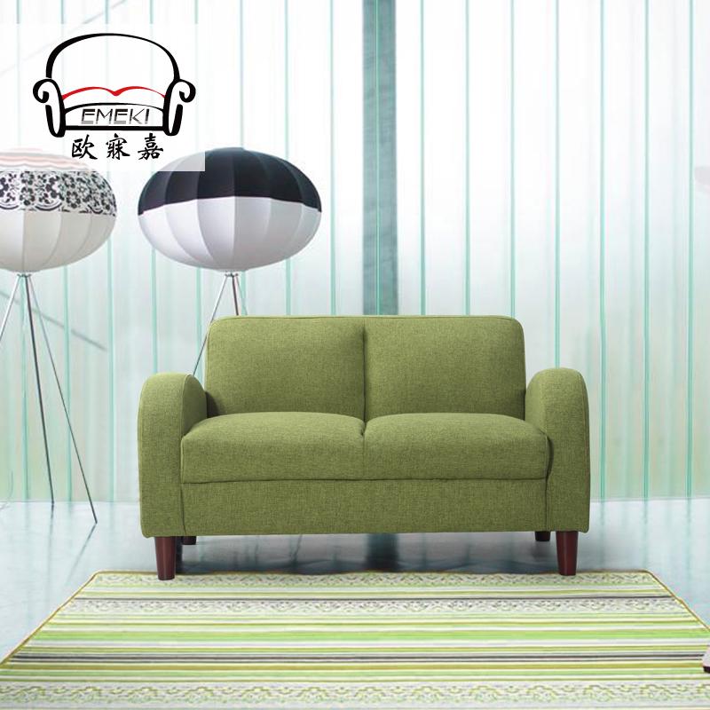 书房沙发小户型布艺沙发情侣小沙发卧室沙发双人沙发咖啡厅沙发