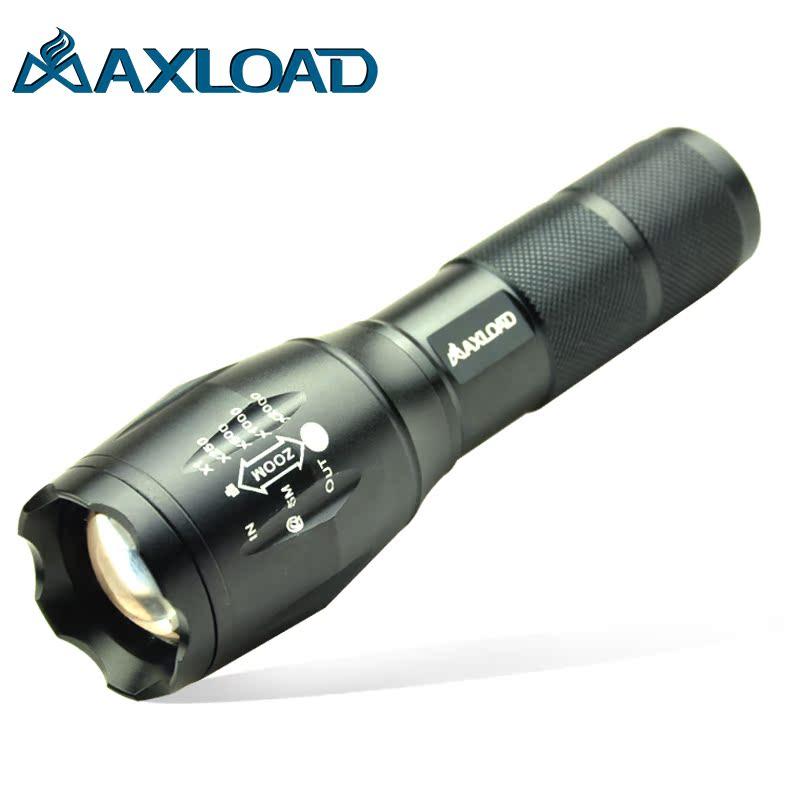 迈思路正品 强光手电筒T6 L2 LED远射充电 可变焦 调焦 防水 进口