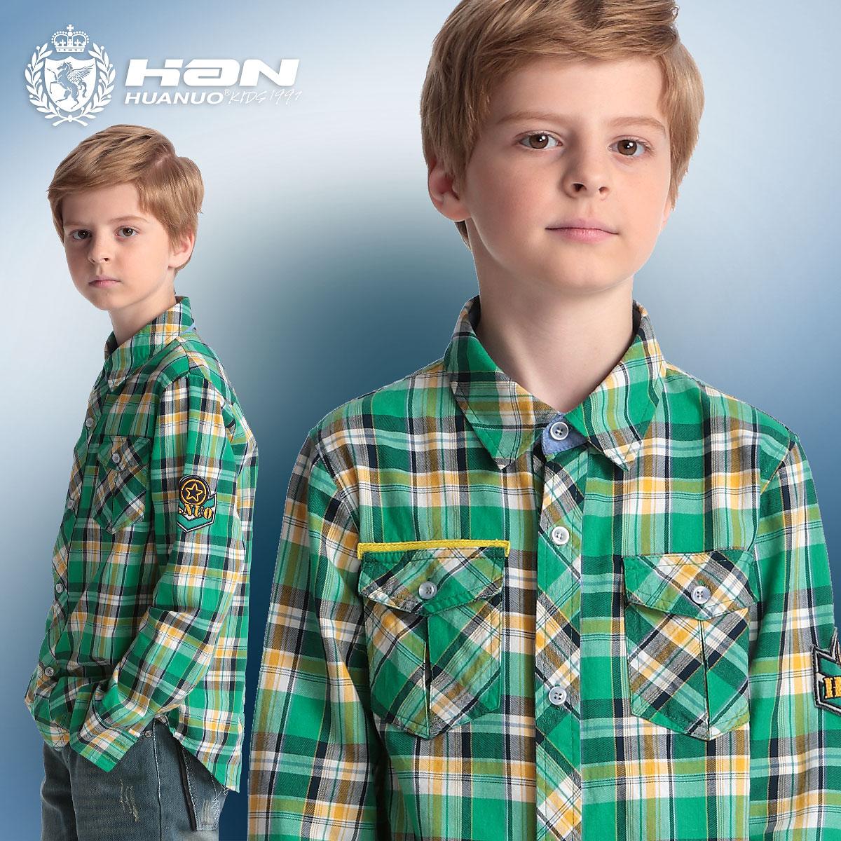 2015新款男童衬衫 长袖纯棉韩版宝宝衬衫男儿童衬衫 中大童大码