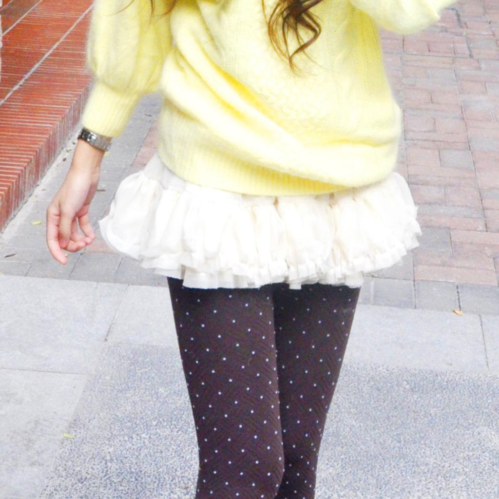 T-Baby 韩版 女装 雪纺 短裙 半身裙 百褶裙 褶皱 裙子 两层 加厚