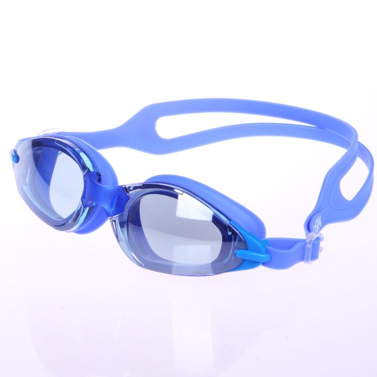 包邮正品华黛思 电镀大框平光游泳镜 防水防雾大框男女通用特价