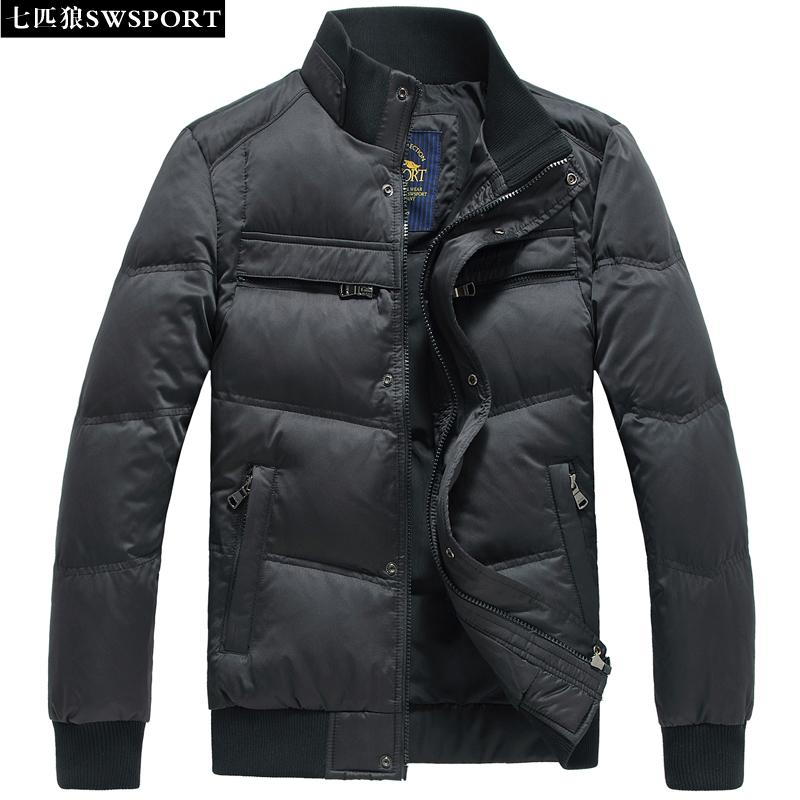 七匹狼男士羽绒服2015冬新款加厚保暖羽绒衣韩版立领短款外套正品
