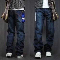 秋冬季宽松牛仔裤男直筒常规款长裤子加肥加大码胖子粗腿肥佬潮流