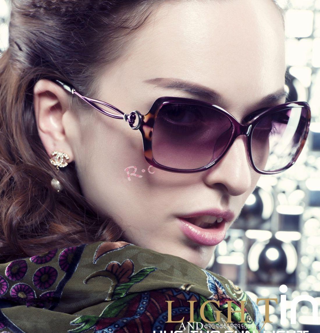 【清仓】正品 2014凯莎太阳镜大版女士高清偏光镜金属墨镜 K3911