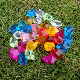 亚克力 塑料水晶钻石 装饰漂亮作用 不能泡大