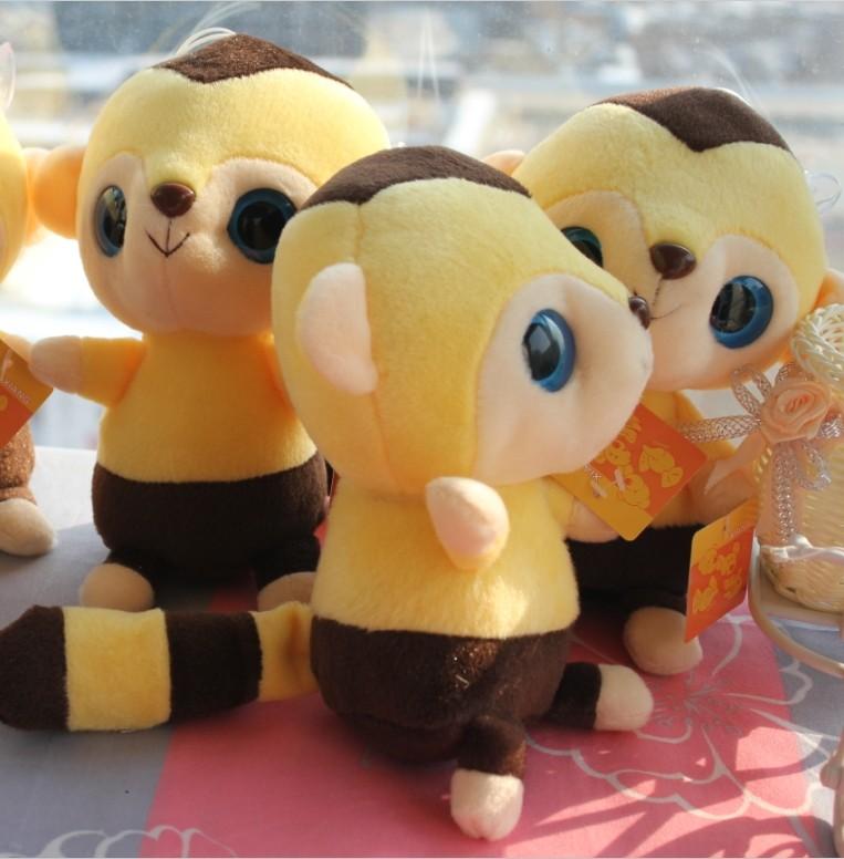 毛绒玩具松鼠可爱大眼睛小松鼠公仔玩偶布娃娃创意