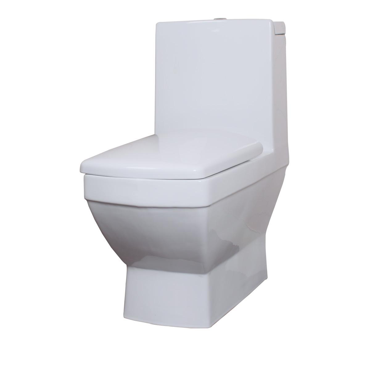 瑝玛卫浴 冲落式节水静音马桶 地排水 防臭坐便器 卫生间马桶H008