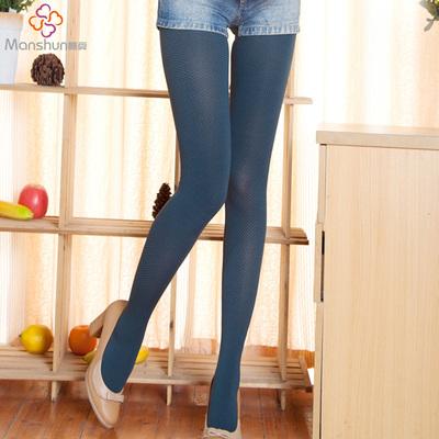 秋彩色丝袜个性袜子袜裤时尚打底袜中厚天鹅绒花纹连裤袜糖果色女
