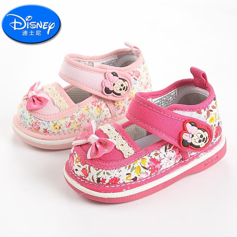 Disney/迪士尼女宝宝学步鞋1~6岁女童布鞋提篮鞋舞蹈鞋CS0090